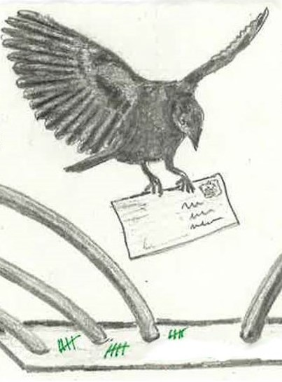 Zeichnung von Jus (ehemaliger Gefangener aus dem Hambacher Forst)